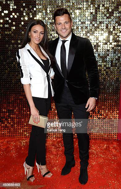 Michelle Keegan and Mark Wright attend the British Soap Awards held at the Hackney Empire on May 24 2014 in London England