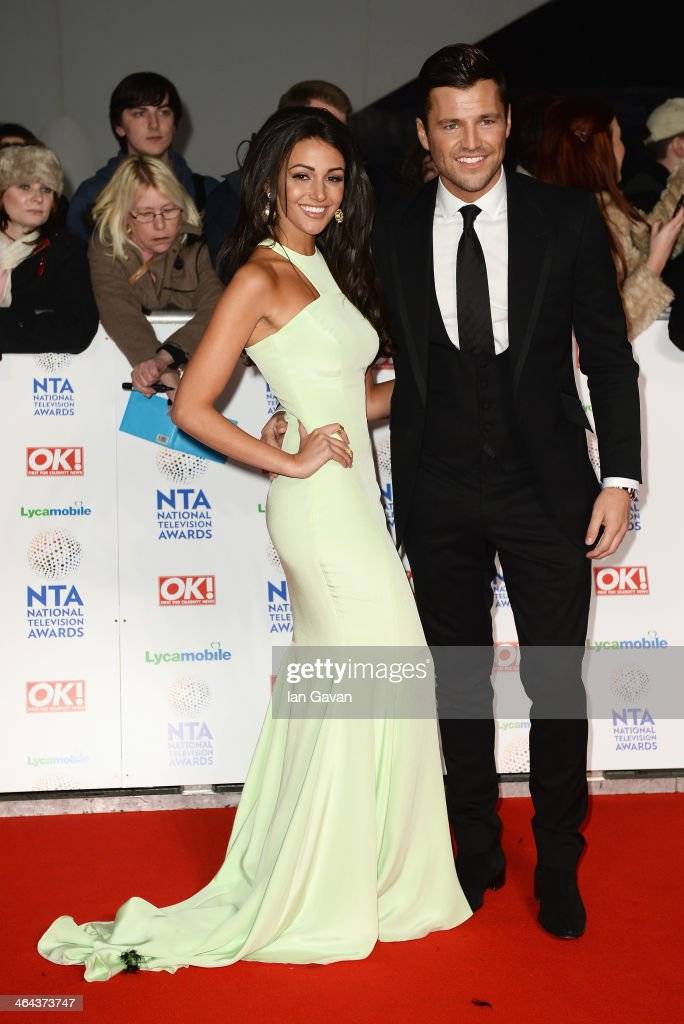 Michelle Keegan and Mark Wright attend the National Television Awards at 02 Arena on January 22, 2014 in London, England.