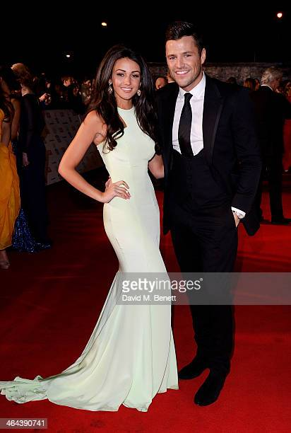 Michelle Keegan and Mark Wright attend the National Television Awards at the 02 Arena on January 22 2014 in London England