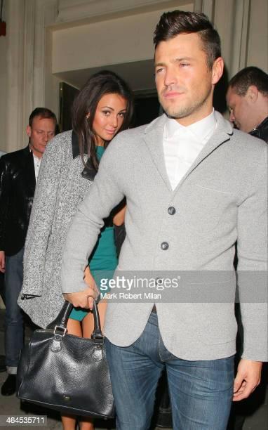 Michelle Keegan and Mark Wright leaving Libertine night club on January 22 2014 in London England