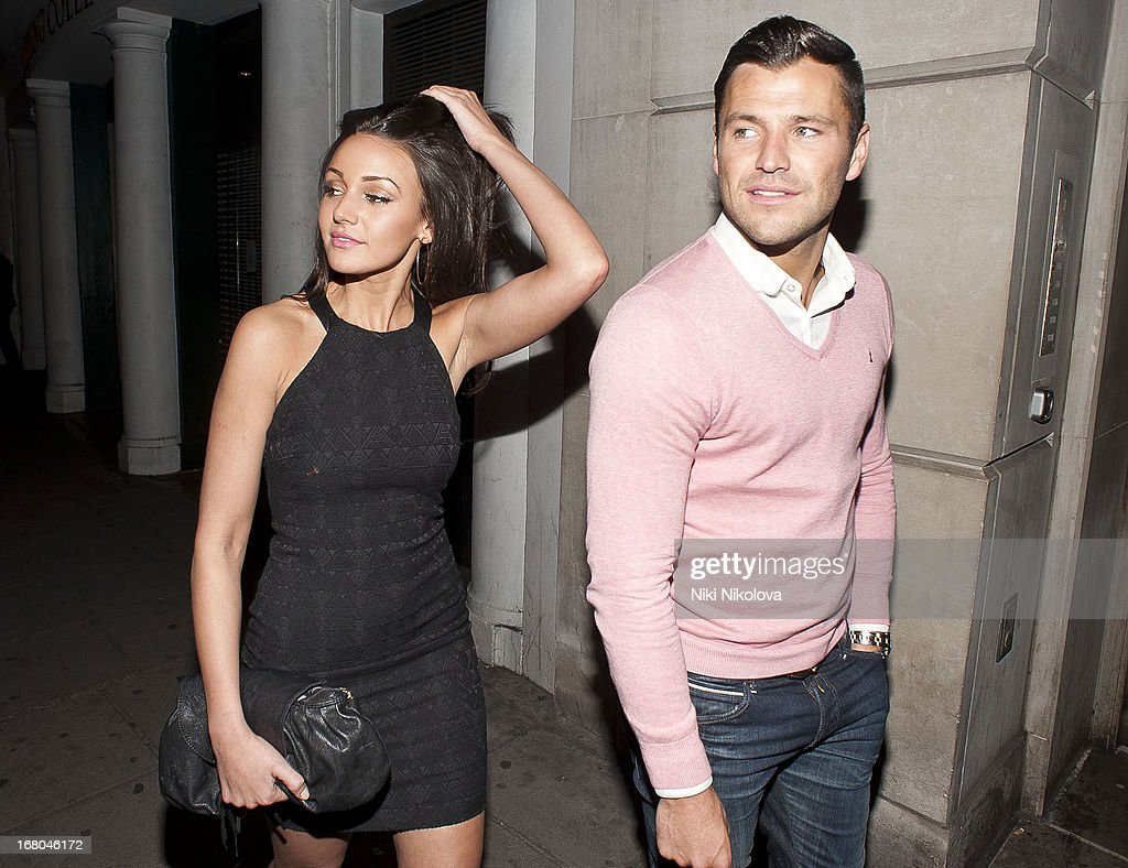 <a gi-track='captionPersonalityLinkClicked' href=/galleries/search?phrase=Michelle+Keegan&family=editorial&specificpeople=4957673 ng-click='$event.stopPropagation()'>Michelle Keegan</a> and Mark Wright sighting at Nobu Restaurant, Mayfair on May 4, 2013 in London, England.