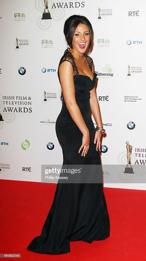 <a gi-track='captionPersonalityLinkClicked' href=/galleries/search?phrase=Michelle+Keegan&family=editorial&specificpeople=4957673 ng-click='$event.stopPropagation()'>Michelle Keegan</a> appears in the Press Room at the Irish Film and Television Awards at the Convention Centre Dublin on February 9, 2013 in Dublin, Ireland.