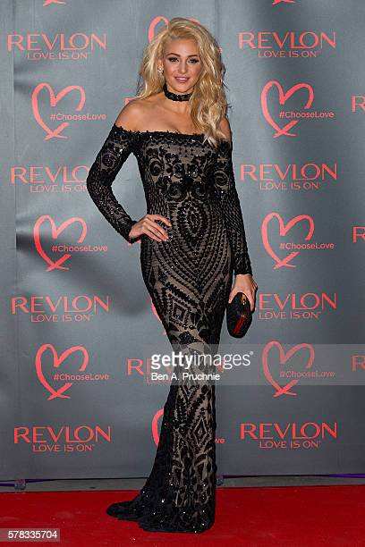 Michelle Keegan arrives for the Revlon Choose Love Masquerade Ball at Victoria and Albert Museum on July 21 2016 in London England