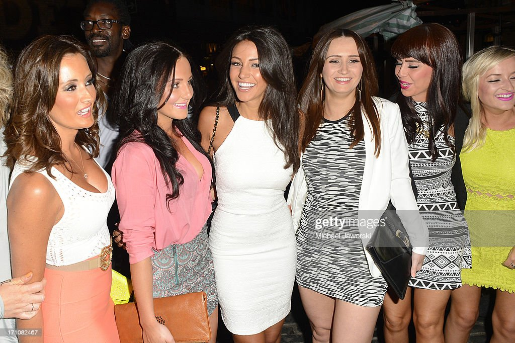 Michelle Keegan (C) arriving at Shaka Zulu for her birthday party on June 21, 2013 in London, England.