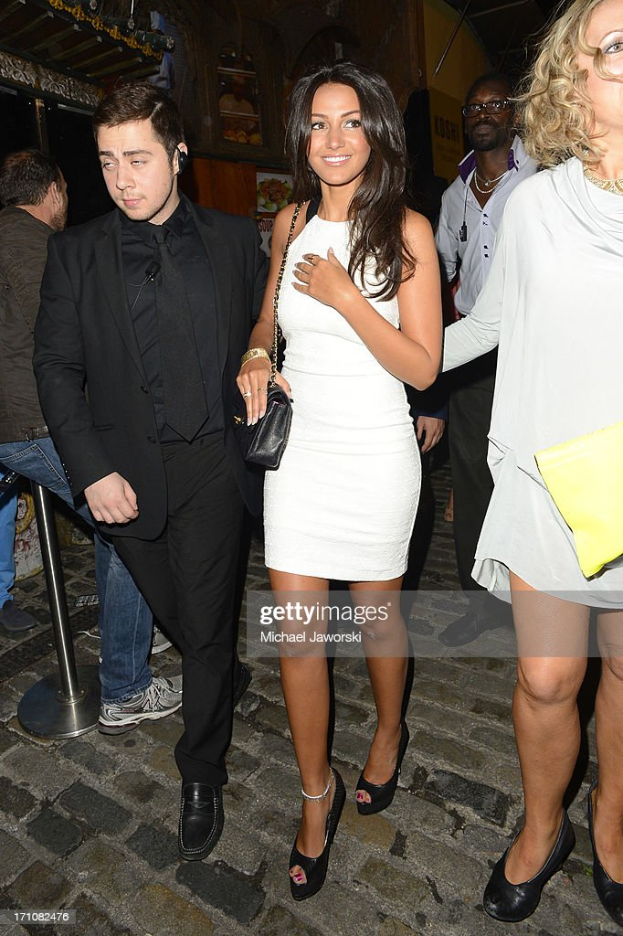 Michelle Keegan arriving at Shaka Zulu for her birthday party on June 21, 2013 in London, England.