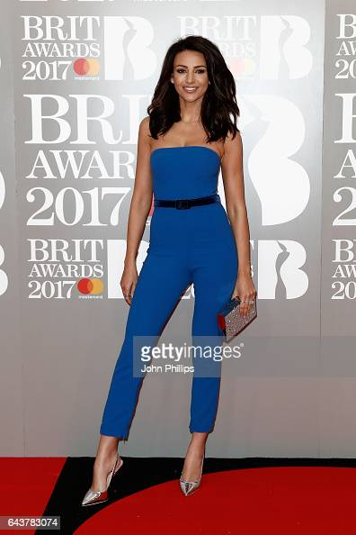 Michelle Keegan attends The BRIT Awards 2017 at The O2 Arena on February 22 2017 in London England