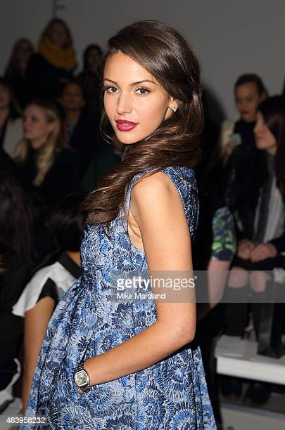 Michelle Keegan attends the JJS Lee show at London Fashion Week AW14 on February 20 2015 in London England
