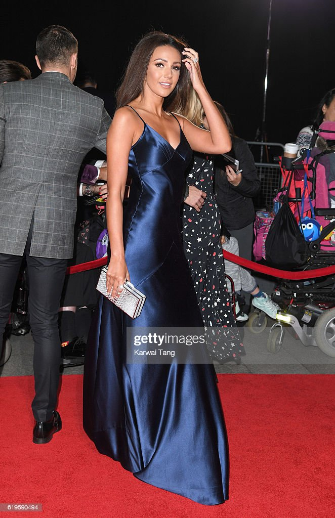 Michelle Keegan attends the Pride Of Britain Awards at The Grosvenor House Hotel on October 31, 2016 in London, England.