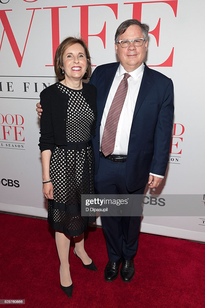 Michelle King and Robert King attend 'The Good Wife' Finale Party at the Museum of Modern Art on April 28 2016 in New York City