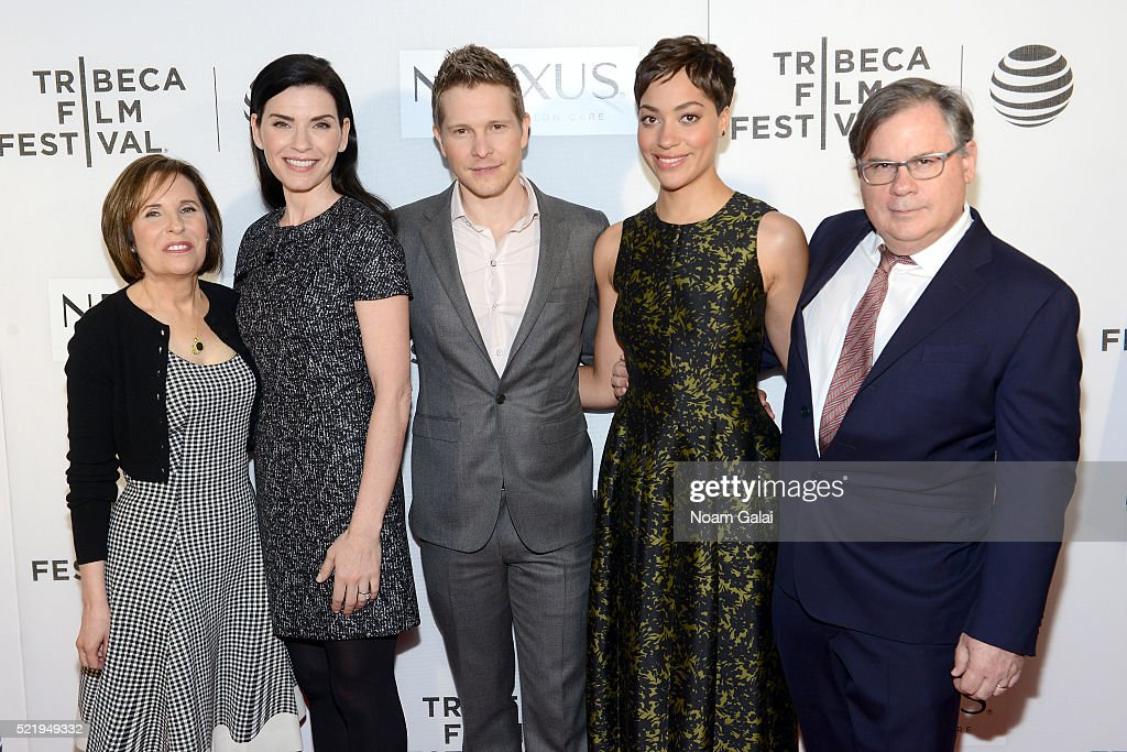 Michelle King Julianna Margulies Matt Czuchry Cush Jumbo and Robert King attend the Tribeca Tune In The Good Wife at BMCC John Zuccotti Theater on...