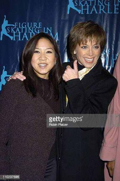 Michelle Kwan and Dorothy Hamill during Figure Skating in Harlem Benefit Skating with the Stars at Wollman Rink in New York New York United States