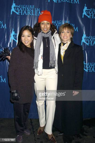 Michelle Kwan and Dorothy Hamill with Tamara Tunie