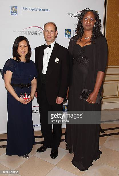 Michelle Kwong HRH Prince Edward Earl of Wessex and Jennifer ViechwegHorsford attend The Duke Of Edinburgh's International Award gala dinner at the...