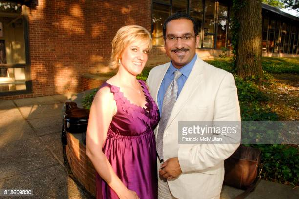 Michelle Laporte and Gerry Saulter attend Opening of A Moment in Time by Stewart F Lane at Performing Arts Center on June 25 2010 in Dix Hills New...