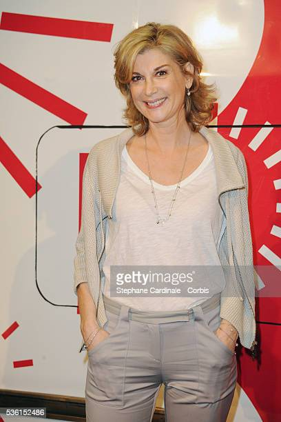 Michelle Laroque attends the 30 years of the TGV Celebration at Gare Montparnasse in Paris