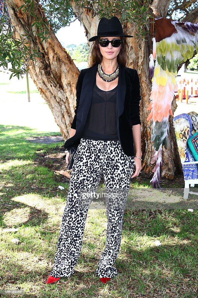 Michelle Leslie attends the Camilla show during Mercedes-Benz Fashion Week Australia Spring/Summer 2013/14 at Centennial Park on April 10, 2013 in Sydney, Australia.