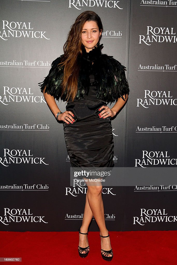 Michelle Leslie attends the Gala Launch event to celebrate the new Australian Turf on October 10, 2013 in Sydney, Australia.