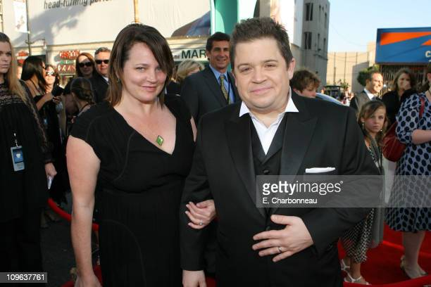 Michelle McNamara and Patton Oswalt during The World Premiere of Disney/Pixar's 'Ratatouille' at Kodak Theater in Hollywood Calfornia United States
