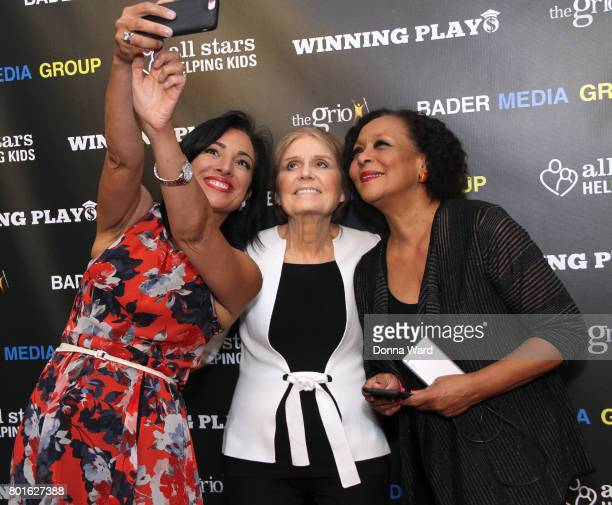 Michelle Miller Gloria Steinem and Carol Jenkins attend the Winning Play$ Black Women Feminism Empowerment panel at The Paley Center for Media on...