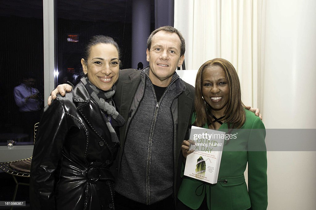 Michelle Miller, James Hester, and Roni DeLuz attend the '1 Pound A Day: Martha's Vineyard Diet Detox' Pre-Launch Book Party at Trump SoHo on February 11, 2013 in New York City.