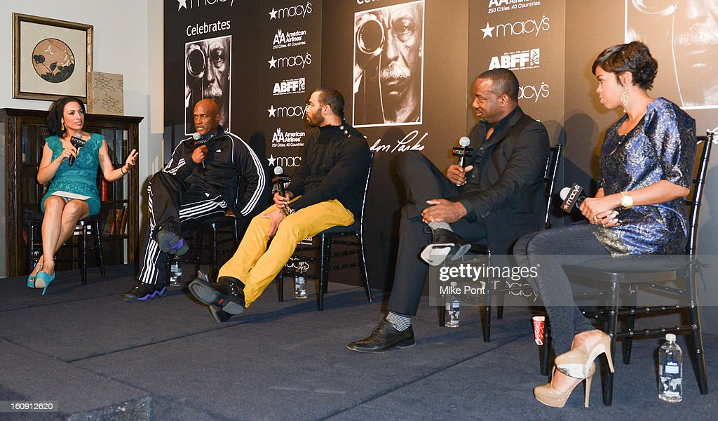 Michelle Miller, Kenny Leon, Omari Hardwick, Malik Yoba and Malinda Williams attend Macy's hosts 'In Conversation' honoring Gordon Parks at Macy's Herald Square on February 7, 2013 in New York City.