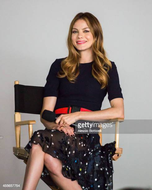 Michelle Monaghan is seen making an appearance at Apple Store in SoHo to promote her new movie 'Fort Bliss' on September 17 2014 in New York City