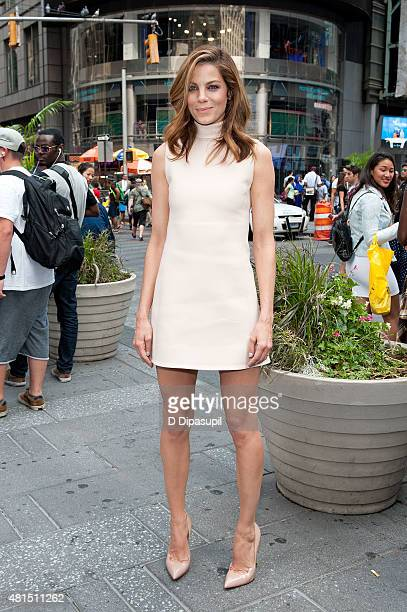 Michelle Monaghan of Sony Pictures' 'Pixels' visits NASDAQ MarketSite on July 21 2015 in New York City