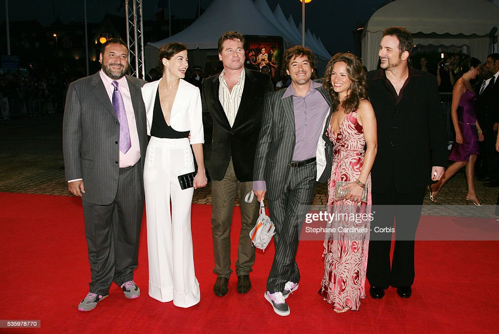 Michelle Monaghan, Val Kilmer, Robert Downey Junior with his wife Susan,Shane Blake, Joel Silver arrive at the premiere of 'Kiss Kiss Bang Bang' during the 31st American Deauville Film Festival.