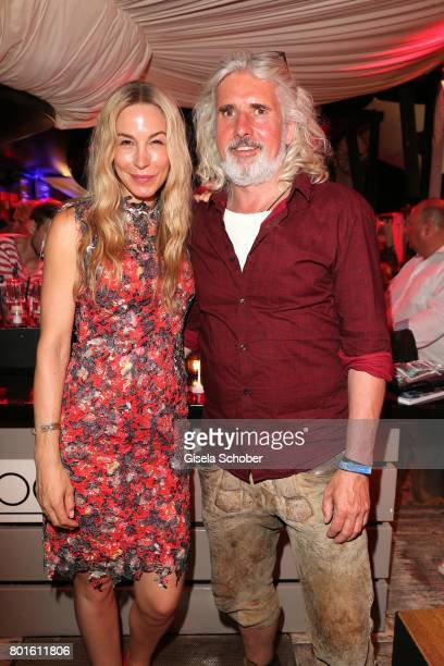 MUNICH GERMANY JUNE 26 Michelle Monballijn and her husband Joachim Masannek during the Movie meets Media Party during the Munich Film Festival on...