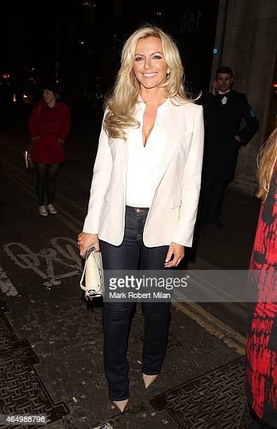 Michelle Mone attending The Sun Bizarre Party at Steam and Rye on March 2 2015 in London England