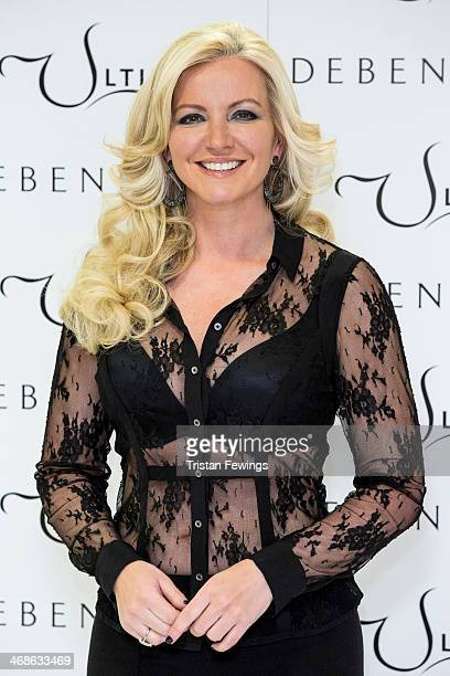 Michelle Mone launches the new Ultimo Valentines Collection at Debenhams on February 11 2014 in London England