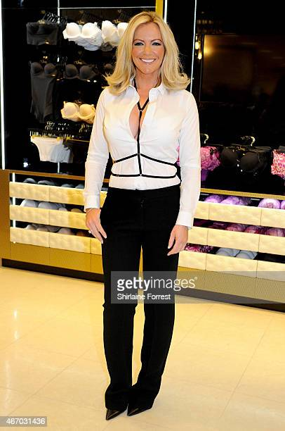 Michelle Mone OBE Entrepreneur and Ultimo founder attends a photocall to mark the opening and preview of the new collection at Debenhams on March 20...
