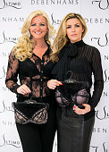 Michelle Monecoowner of Ultimo and Abbey Clancy launches the new Ultimo Valentines Collection at Debenhams on February 11 2014 in London England