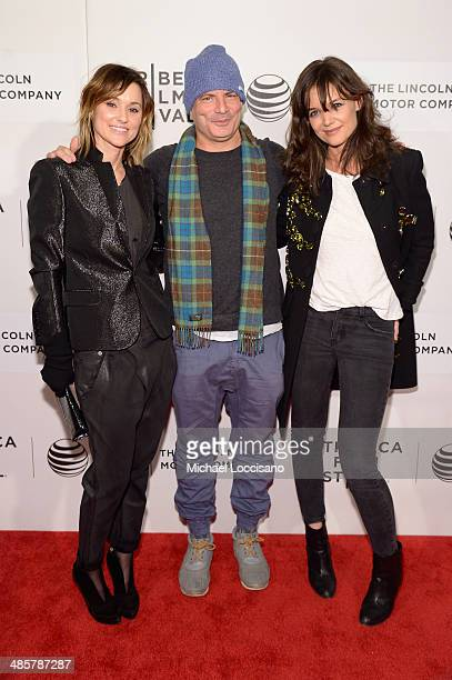 Michelle Montiel Dito Montiel and Katie Holmes attend the 'Boulevard' Premiere during the 2014 Tribeca Film Festival at BMCC Tribeca PAC on April 20...