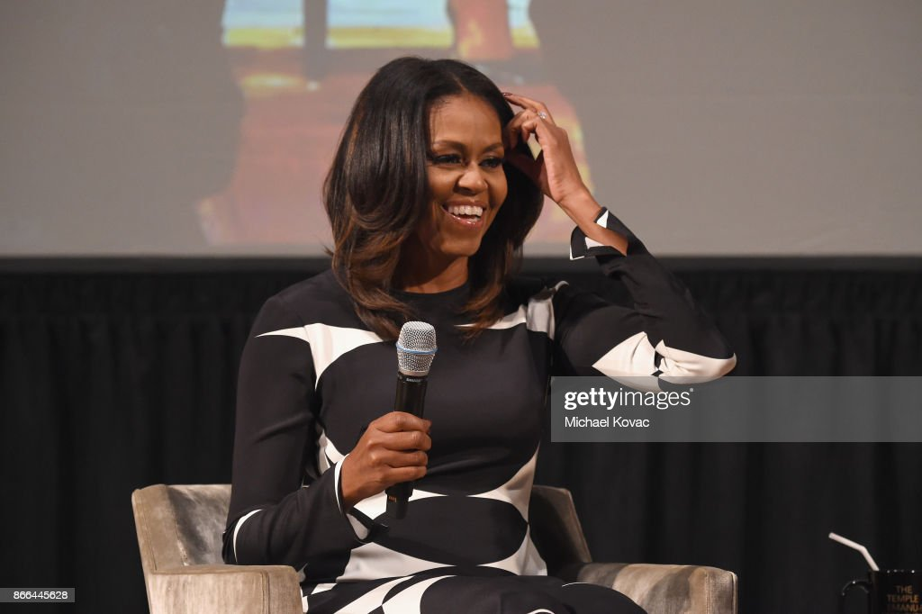 Michelle Obama speaks onstage as The Streicker Center hosts a Special Evening with Former First Lady Michelle Obama at The Streicker Center on October 25, 2017 in New York City.