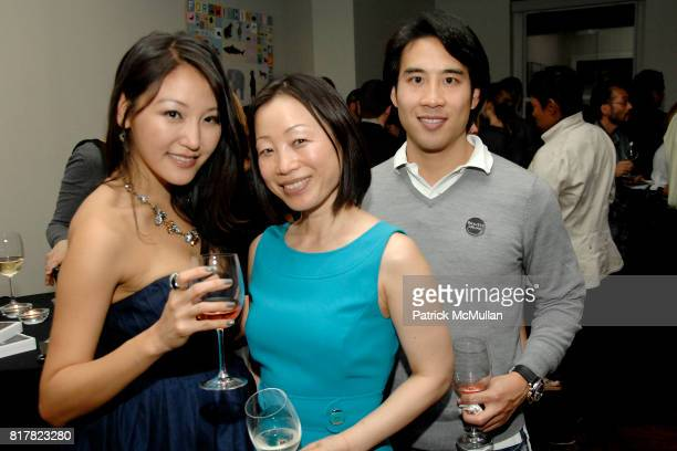 Michelle Park Hanna Lee and Nate Leung attend OLDMAN'S BRAVE NEW WORLD OF WINE Book Launch Hosted by W W Norton and Mark Oldman at Residence of Mark...