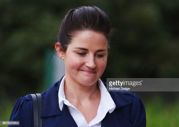 Michelle Payne arrives on June 29 2017 in Melbourne Australia