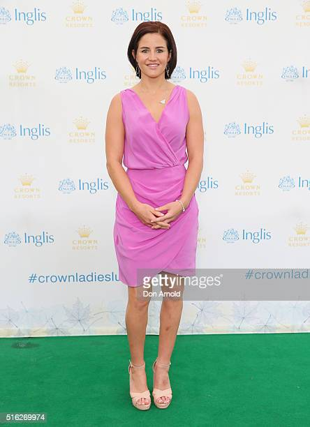 Michelle Payne attends the Crown Resorts Ladies Lunch at Inglis Stables at Inglis Newmarket Stables on March 18 2016 in Sydney Australia