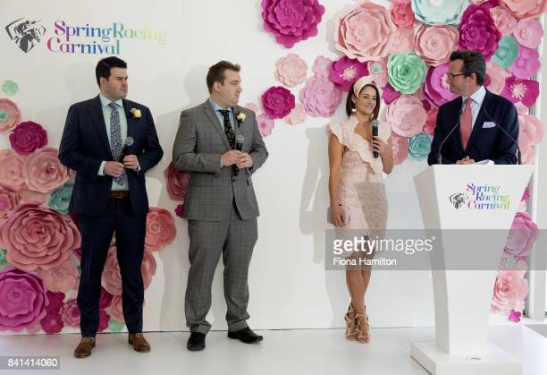 Michelle Payne Henry Dwyer Matt Hill at Greenfields on September 01 2017 in Albert Park Australia
