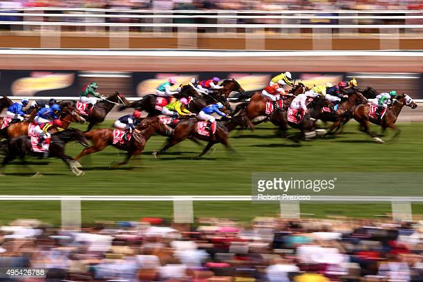 Michelle Payne rides Prince of Penzance to win race 7 the Emirates Melbourne Cup on Melbourne Cup Day at Flemington Racecourse on November 3 2015 in...