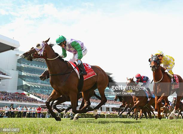 Michelle Payne rides Prince of Penzance to win race seven The Emirates Melbourne Cup on Melbourne Cup Day at Flemington Racecourse on November 3 2015...