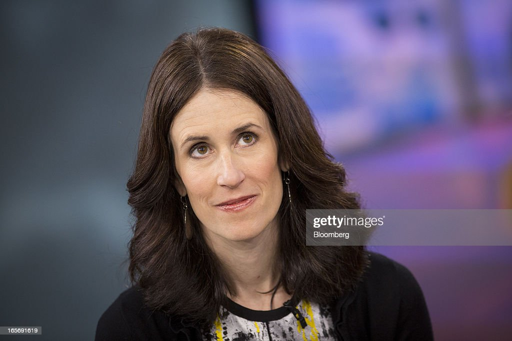 Michelle Peluso, chief executive officer of Gilt Group Inc., pauses during a Bloomberg Television interview in New York, U.S., on Friday, April 5, 2013. Peluso left her post as Citigroup Inc.'s global consumer chief marketing and Internet officer to run Gilt Groupe Inc., an online shopping site, with an eye toward taking the company public. Photographer: Scott Eells/Bloomberg via Getty Images