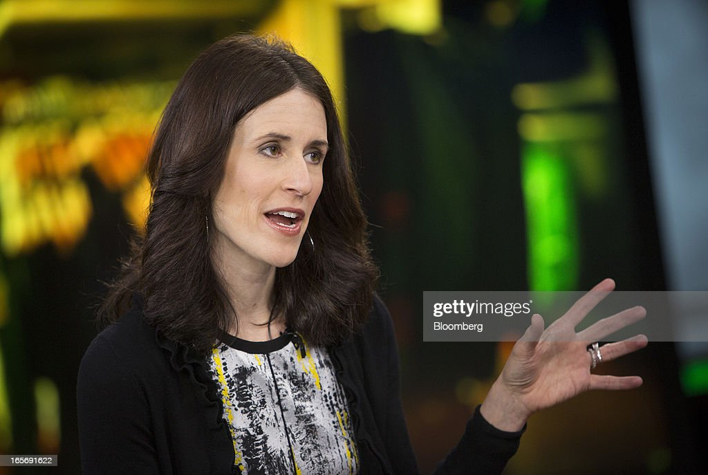 Michelle Peluso, chief executive officer of Gilt Group Inc., speaks during a Bloomberg Television interview in New York, U.S., on Friday, April 5, 2013. Peluso left her post as Citigroup Inc.'s global consumer chief marketing and Internet officer to run Gilt Groupe Inc., an online shopping site, with an eye toward taking the company public. Photographer: Scott Eells/Bloomberg via Getty Images