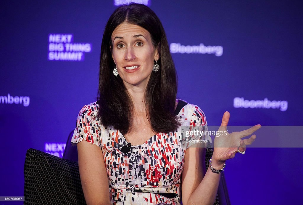 Michelle Peluso, chief executive officer of Gilt Groupe Inc., speaks at the Bloomberg Next Big Thing Summit in New York, U.S., on Monday, Sept. 16, 2013. The conference convenes the most influential investors and industry leaders in innovation and science to explore the great frontiers of how technology is changing the way we live, work, and interact. Photographer: Michael Nagle/Bloomberg via Getty Images