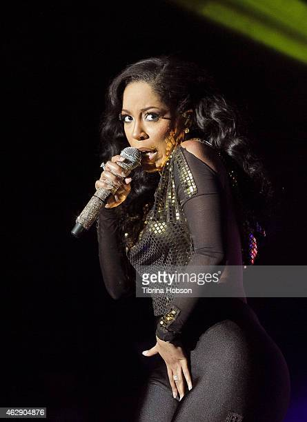 K Michelle performs at the Saban Theatre on February 6 2015 in Beverly Hills California