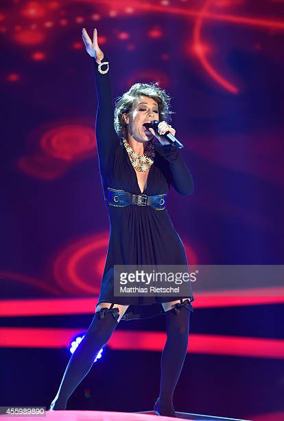 Michelle performs during the rehearsal of the tv show 'Stefanie Hertel Meine Stars' on September 23 2014 in Zwickau Germany