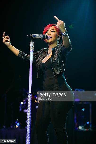 K Michelle performs during valentines day at Bank United Center on February 14 2014 in Miami Florida