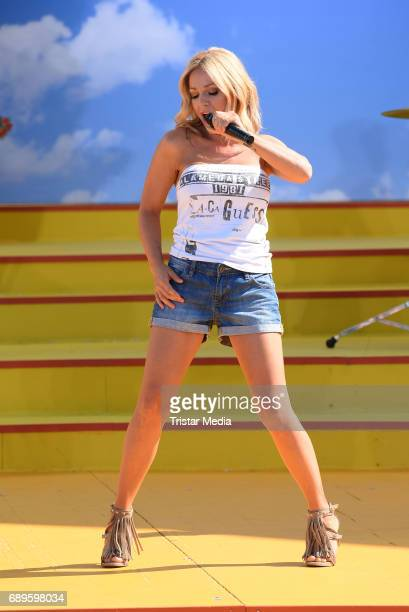 Michelle performs in the ARD Live TV Show 'Immer wieder Sonntags' in Rust at the EuropaPark on May 28 2017 in Rust Germany