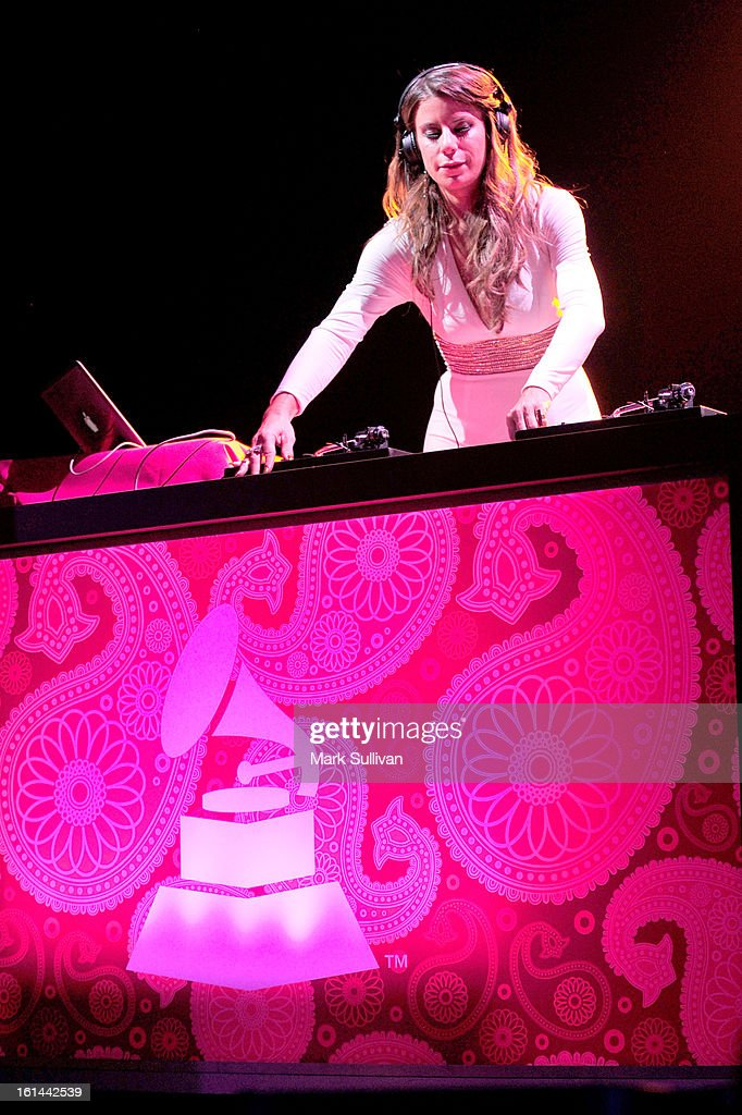 DJ Michelle Pesce performs the 55th Annual GRAMMY Awards at the Los Angeles Convention Center on February 10, 2013 in Los Angeles, California.