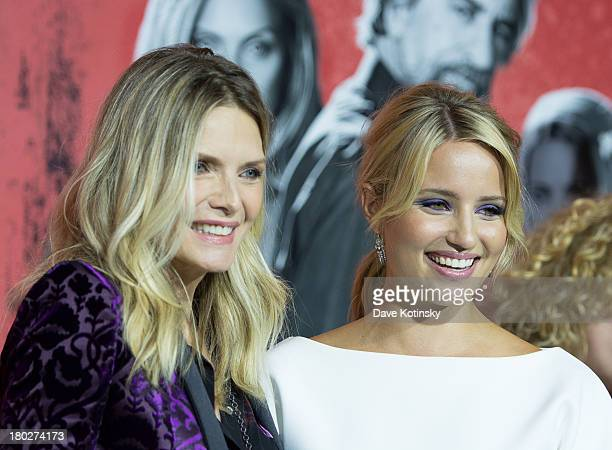 Michelle Pfeiffer and Dianna Agron attend> 'The Family' World Premiere at AMC Lincoln Square Theater on September 10 2013 in New York City
